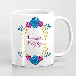 Bright Feminist Killjoy Floral Print Coffee Mug