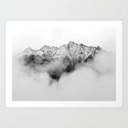 Peaks on the Mist Art Print