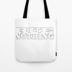 Rue Nothing Block Letters Tote Bag