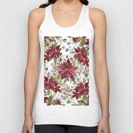 Poinsettia Flowers Unisex Tank Top