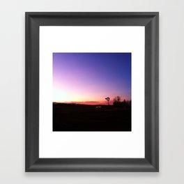Windmill vs Sunset Framed Art Print
