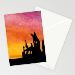 Hogwarts Watercolor sunset Stationery Cards