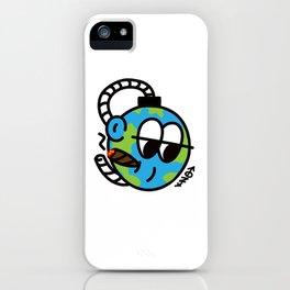 EARTH SELF DESTRUCT iPhone Case