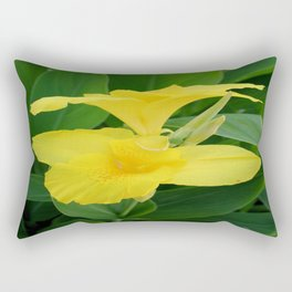 Closeup Of A Tropical Yellow Canna Lily Rectangular Pillow