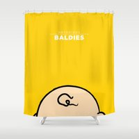 charlie Shower Curtains featuring Charlie Brown by Mr. Peruca