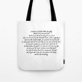 The Apostles' Creed Tote Bag