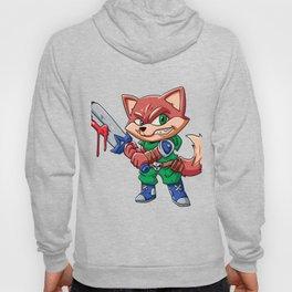Warrior fox  cartoon illustration Hoody