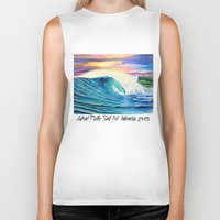 indonesia Biker Tanks featuring  Surf Art  Indonesia by Surf Art Gabriel Picillo