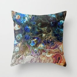 Currents 1 (Abstract Dachshund) Throw Pillow