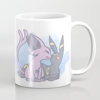 umbreon Mugs featuring Smooch by Kessi
