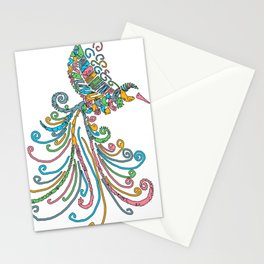 Image for Flying Hummingbird Art Stationery Cards
