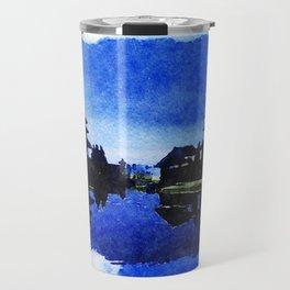 Bali Temple Silhouette Travel Mug