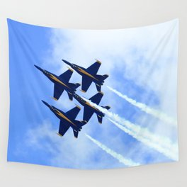 Blue Angels #s 1 2 3 4 Wall Tapestry