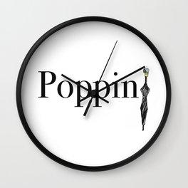 Mary Poppins Poppin' Wall Clock