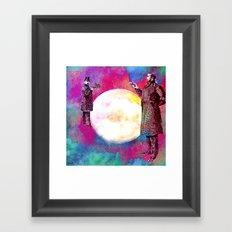 DUEL FOR THE MOON Framed Art Print