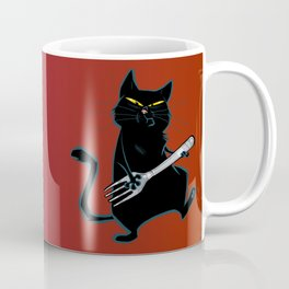 Cat with a fork Coffee Mug
