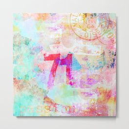 Passion mixed media colorful abstract art Metal Print