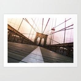 Brooklyn Bridge, New York City Art Print