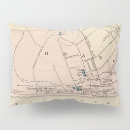 Vintage Map of Long Branch NJ (1872) Pillow Sham