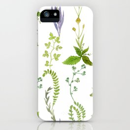 watercolor meadow I iPhone Case