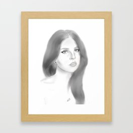 Del Rey (plain) Framed Art Print