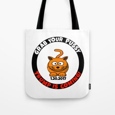 Grab Your Happy Cat Tote Bag