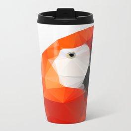 Geo - Parrot red Metal Travel Mug