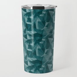 Abstract Geometrical Triangle Patterns 3 Benjamin Moore 2019 Trending Color Beau Green 2054-20 Travel Mug
