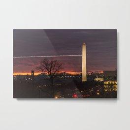 Obelisc at the sunset in washington D.C Metal Print