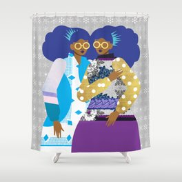 Winter Princesses Shower Curtain