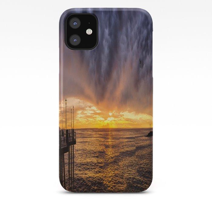 Redondo Beach Stormy Sunset Iphone Case