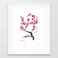 cherry blossoms Framed Art Prints featuring Cherry Blossoms by Amaya