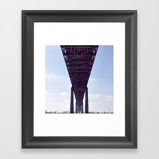 cantilever bridge  Framed Art Print