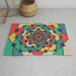 Color full bloom mandala Rug