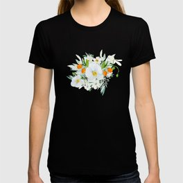 White Orchid Series: Orchid and Kumkwat Palms T-shirt