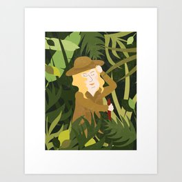 Lady Explorer Art Print