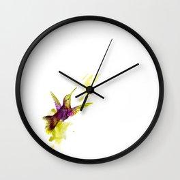 Oiseau magenta Wall Clock