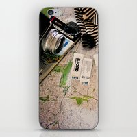vintage map iPhone & iPod Skins featuring Map by Carmen Moreno Photography
