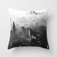vampire weekend Throw Pillows featuring Hannah Hunt - Vampire Weekend by HUDSON DESIGNS