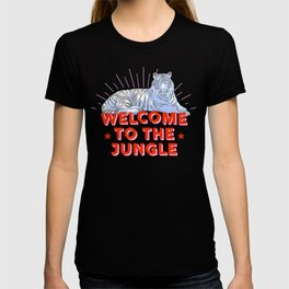 welcome to the jungle - retro tiger T-shirt