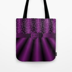 Purple Satin Gown Tote Bag