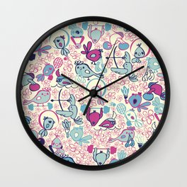 Birds taking part of the olympics in Tokyo 2020 Wall Clock