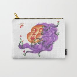 Flower Hair Carry-All Pouch