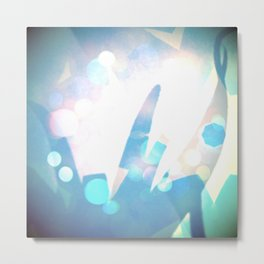 Aloe octagons whimsical Metal Print