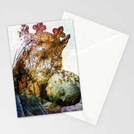 Statue / Double Exposure / 2 Stationery Cards