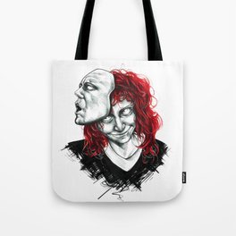 Let the mask consume you Tote Bag