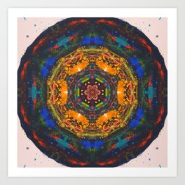 post-modern mandala Art Print