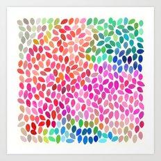 rain 5 sq Art Print