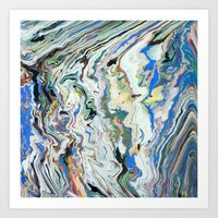 geology Art Prints featuring Fluctuating Geology by Christina Stavers