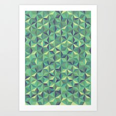 Green diamonds Art Print
